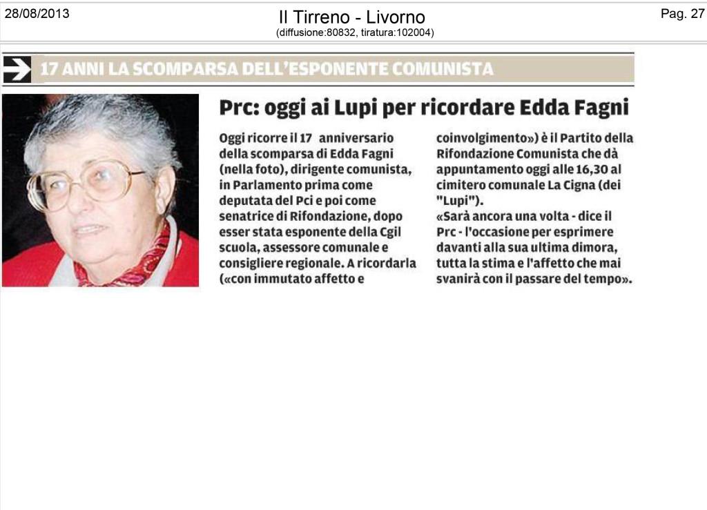 Edda Fagni ricorrenza