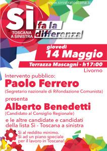 14 maggio, 17:00 Paolo Ferrero a Livorno