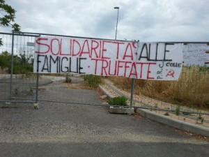 Solidarietà alle famiglie truffate del Ghiaccione